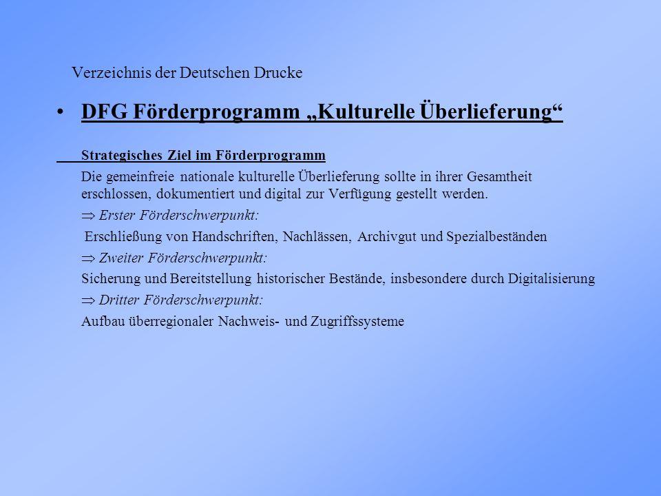 Verzeichnis der Deutschen Drucke