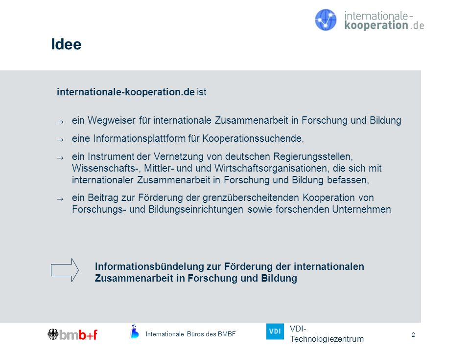Idee internationale-kooperation.de ist