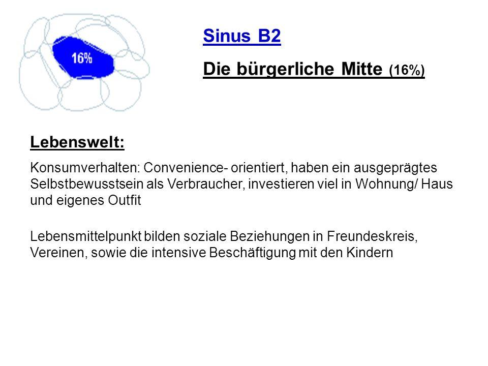 Die bürgerliche Mitte (16%)