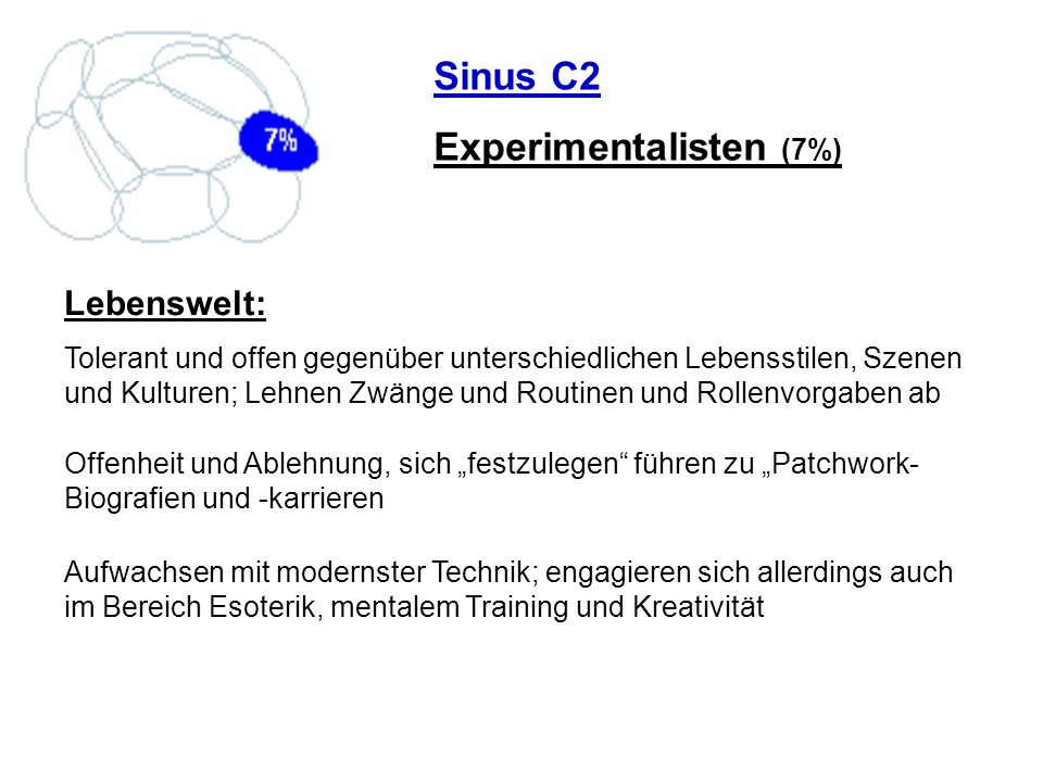 Experimentalisten (7%)