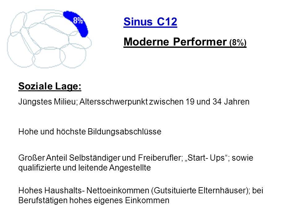 Sinus C12 Moderne Performer (8%) Soziale Lage: