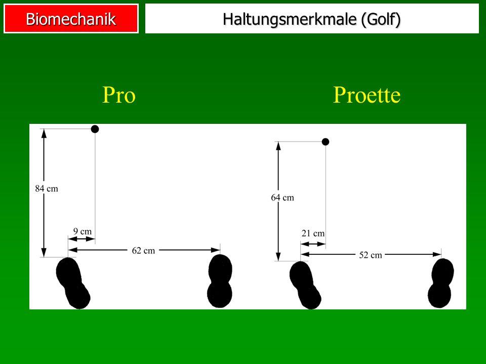 Haltungsmerkmale (Golf)