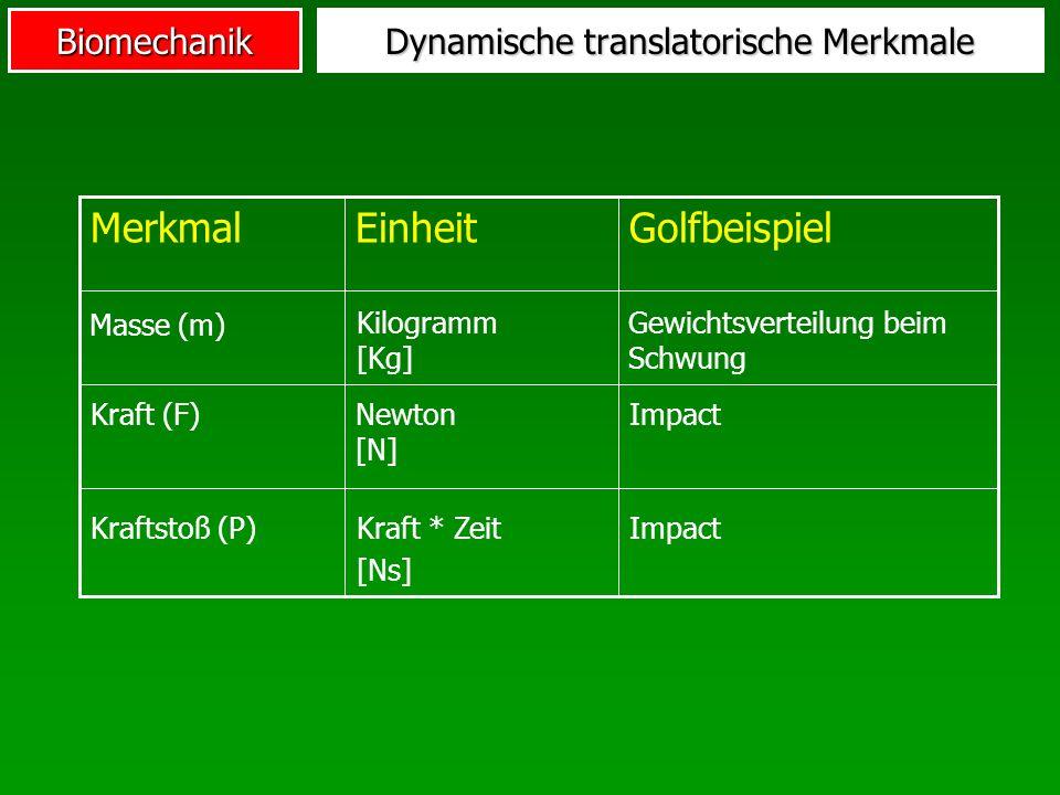 Dynamische translatorische Merkmale
