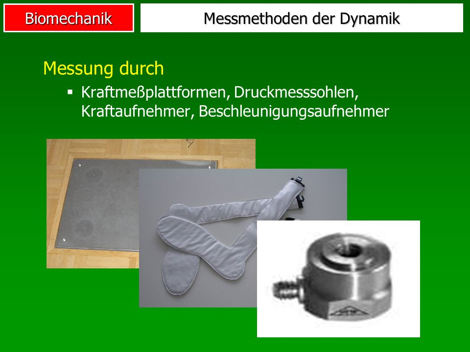 Messmethoden der Dynamik
