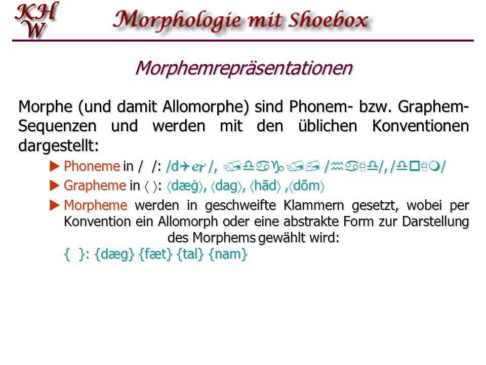 Morphemrepräsentationen