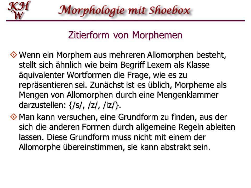 Zitierform von Morphemen