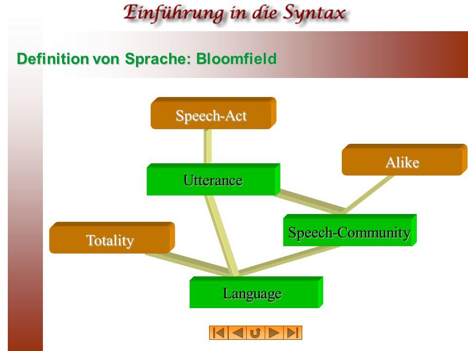 Definition von Sprache: Bloomfield