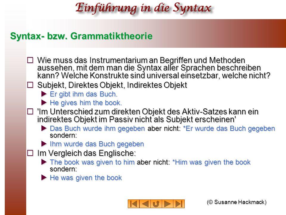 Syntax- bzw. Grammatiktheorie