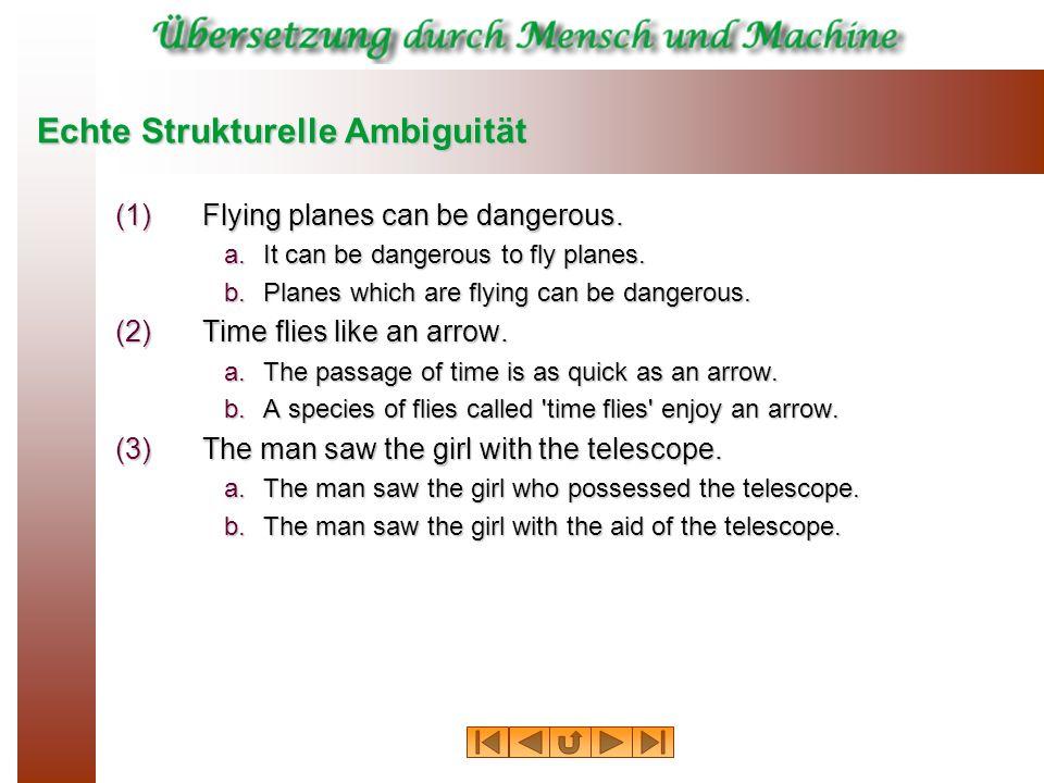 Echte Strukturelle Ambiguität