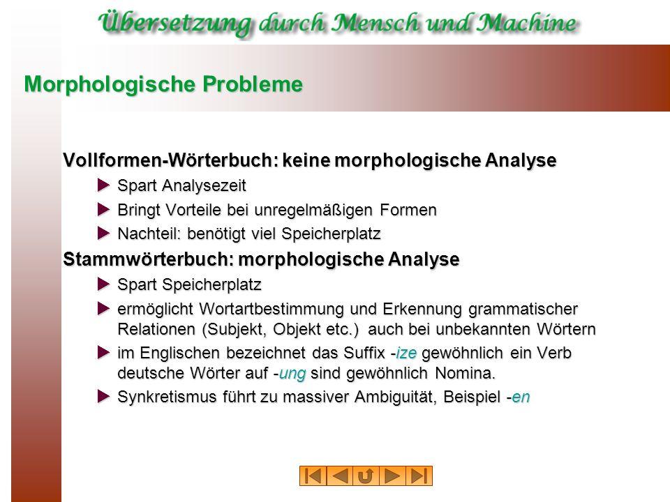 Morphologische Probleme