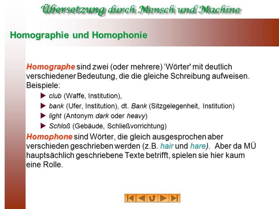 Homographie und Homophonie