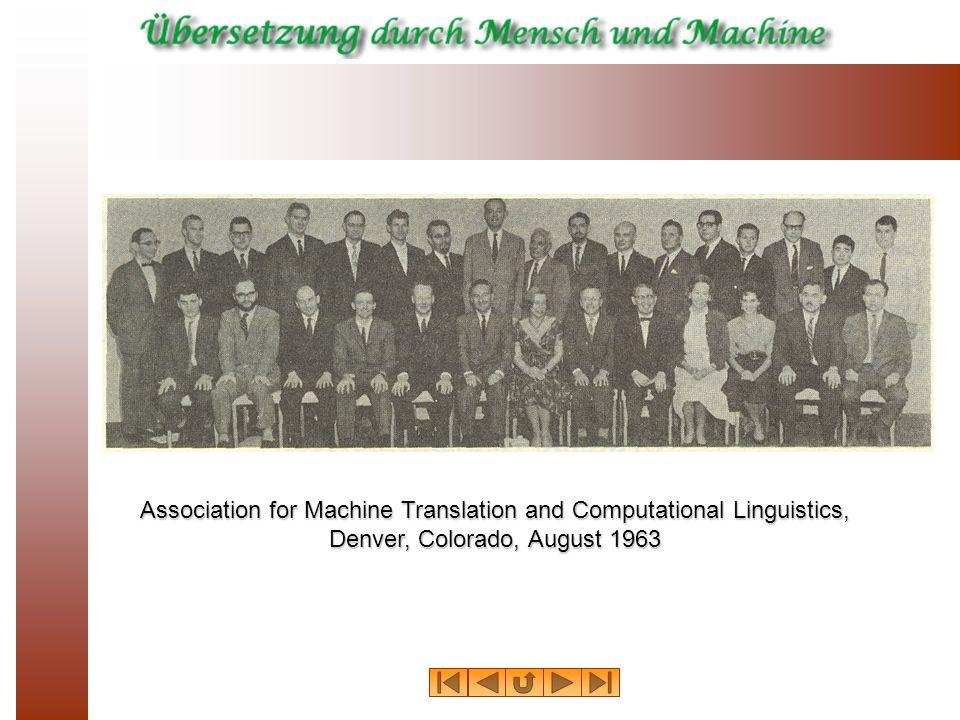 Association for Machine Translation and Computational Linguistics,