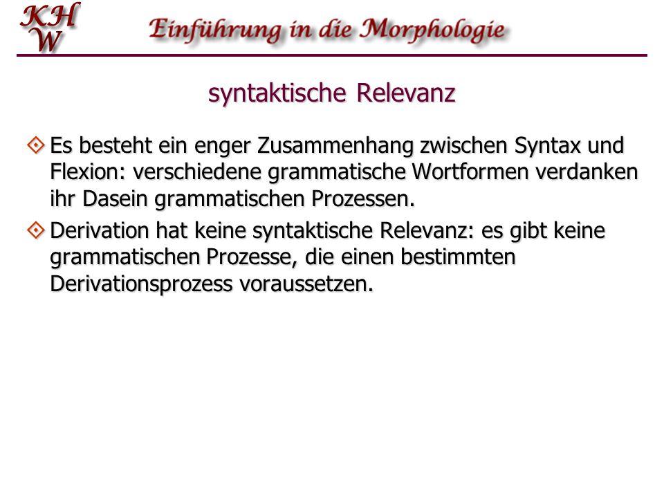syntaktische Relevanz