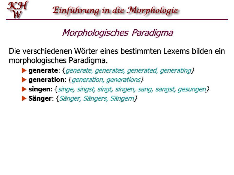 Morphologisches Paradigma