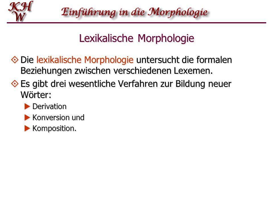 Lexikalische Morphologie