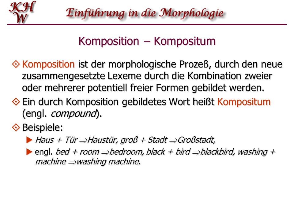 Komposition – Kompositum