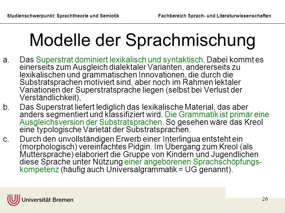Modelle der Sprachmischung