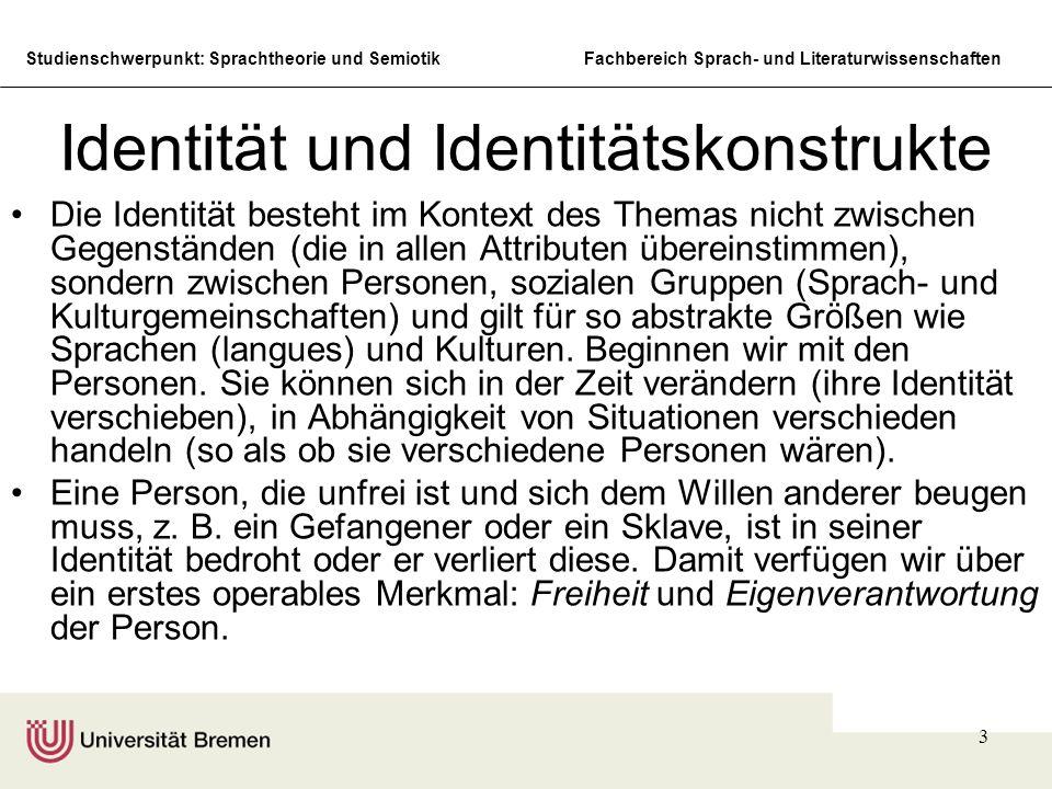 Identität und Identitätskonstrukte