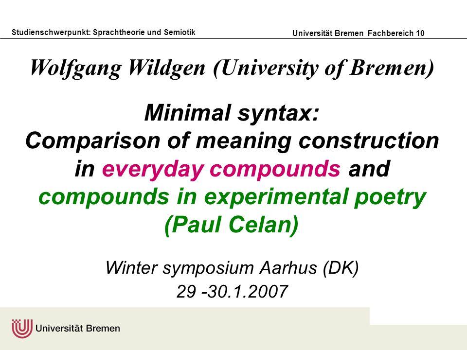 Winter symposium Aarhus (DK) 29 -30.1.2007