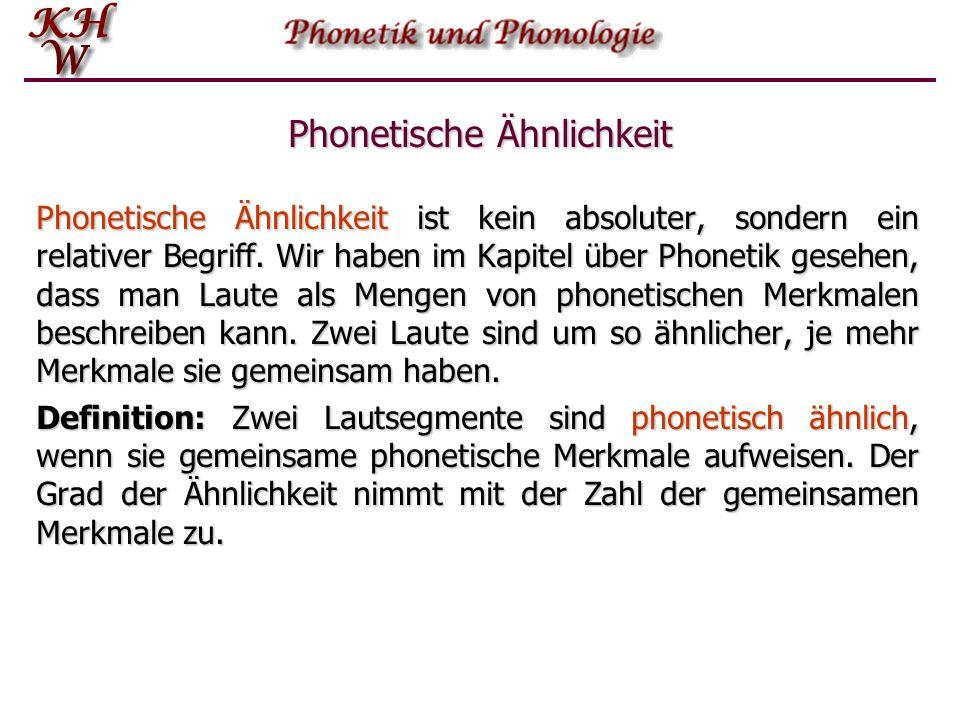 Phonetische Ähnlichkeit