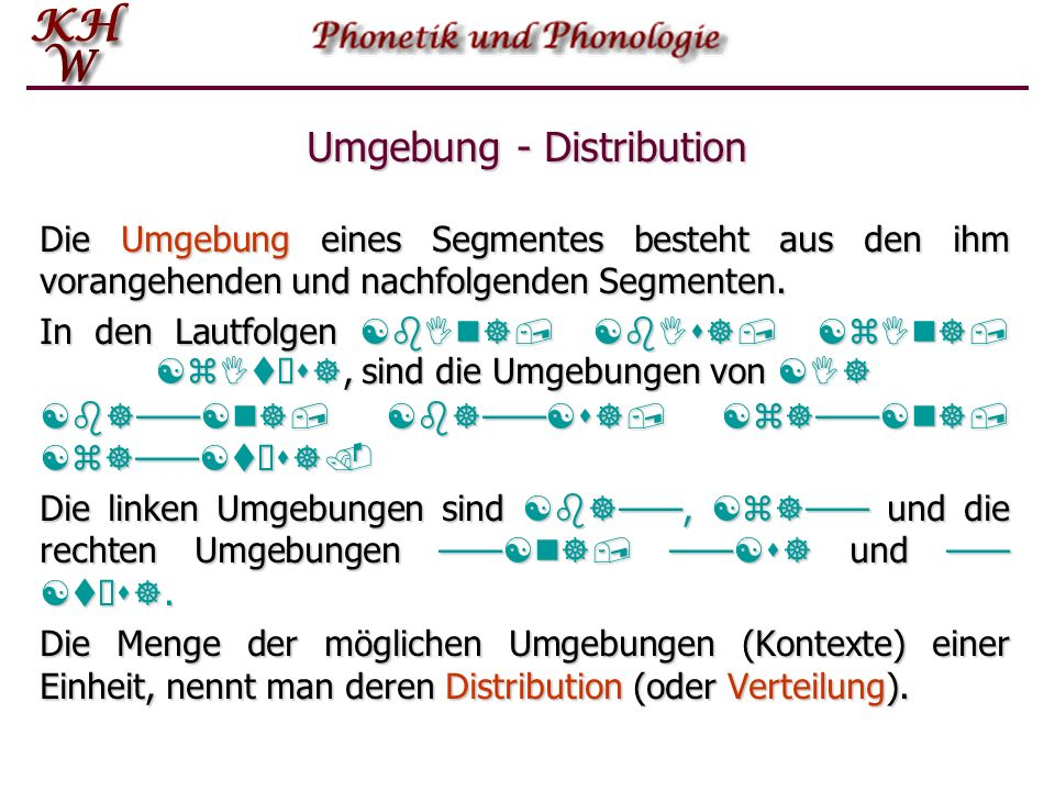 Umgebung - Distribution