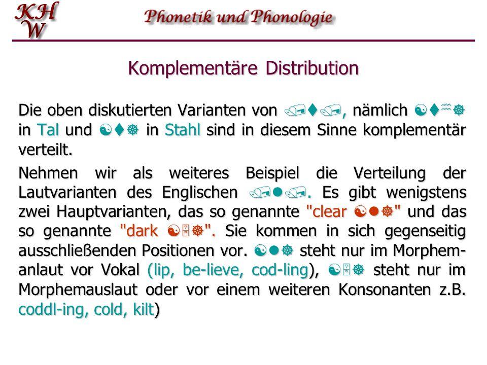 Komplementäre Distribution