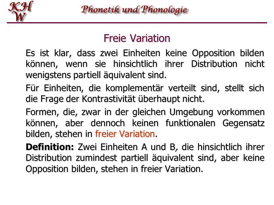 Freie Variation
