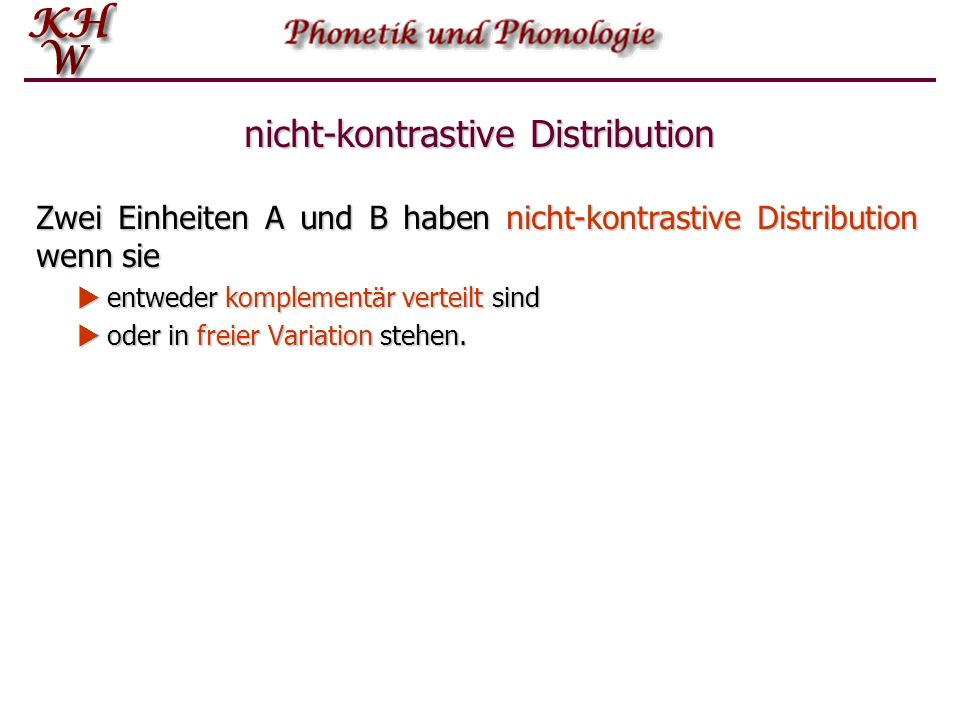 nicht-kontrastive Distribution