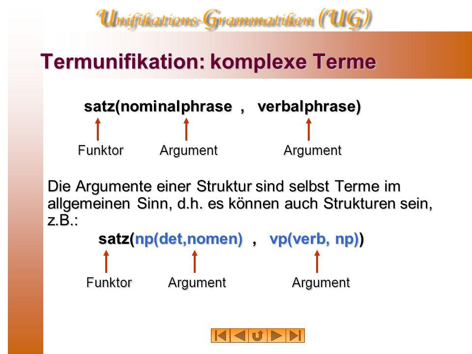 Termunifikation: komplexe Terme
