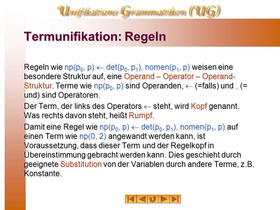 Termunifikation: Regeln