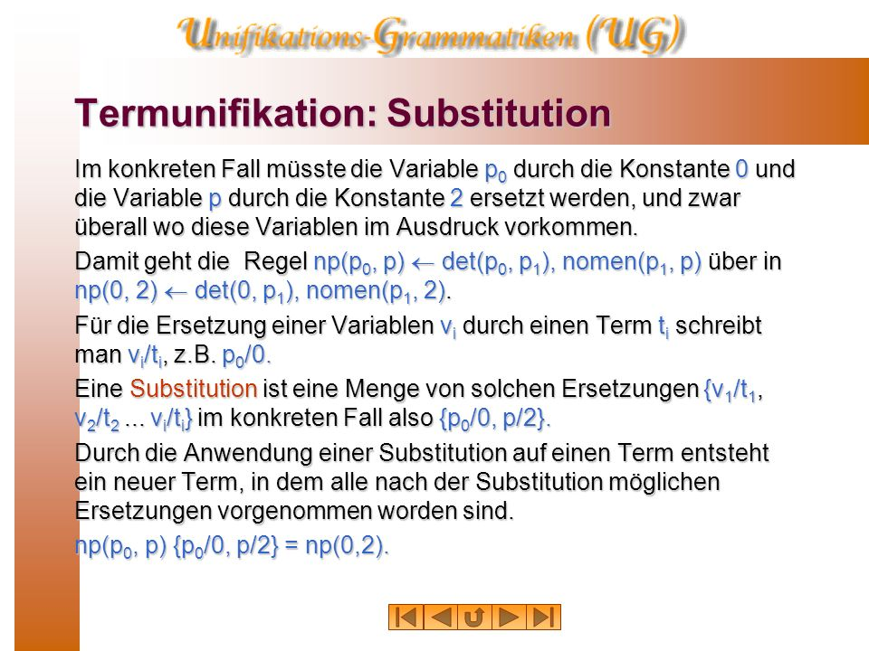 Termunifikation: Substitution