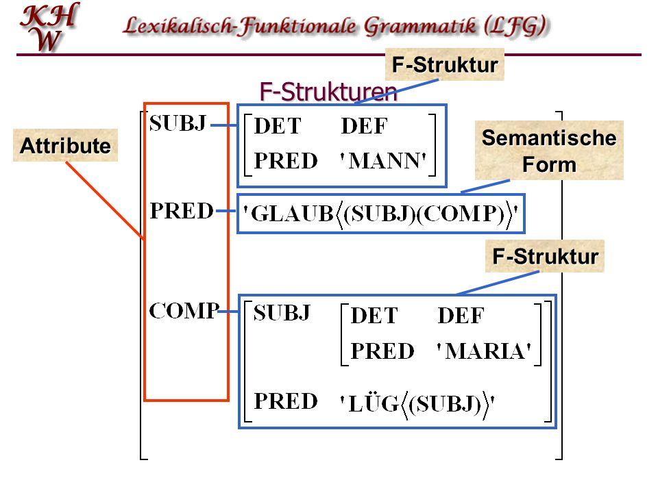 F-Struktur F-Strukturen Attribute Semantische Form F-Struktur