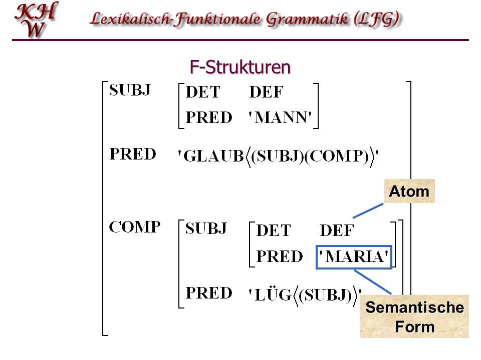 F-Strukturen Atom Semantische Form