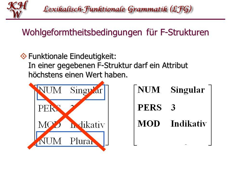 Wohlgeformtheitsbedingungen für F-Strukturen