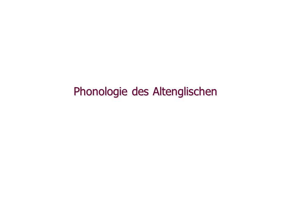 Phonologie des Altenglischen