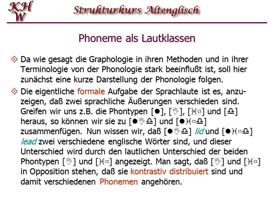Phoneme als Lautklassen