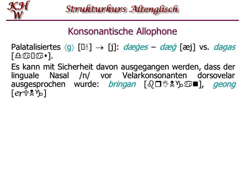 Konsonantische Allophone