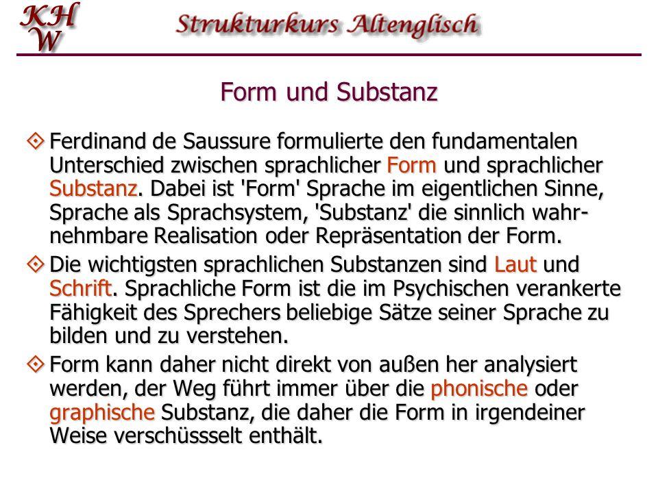 Form und Substanz