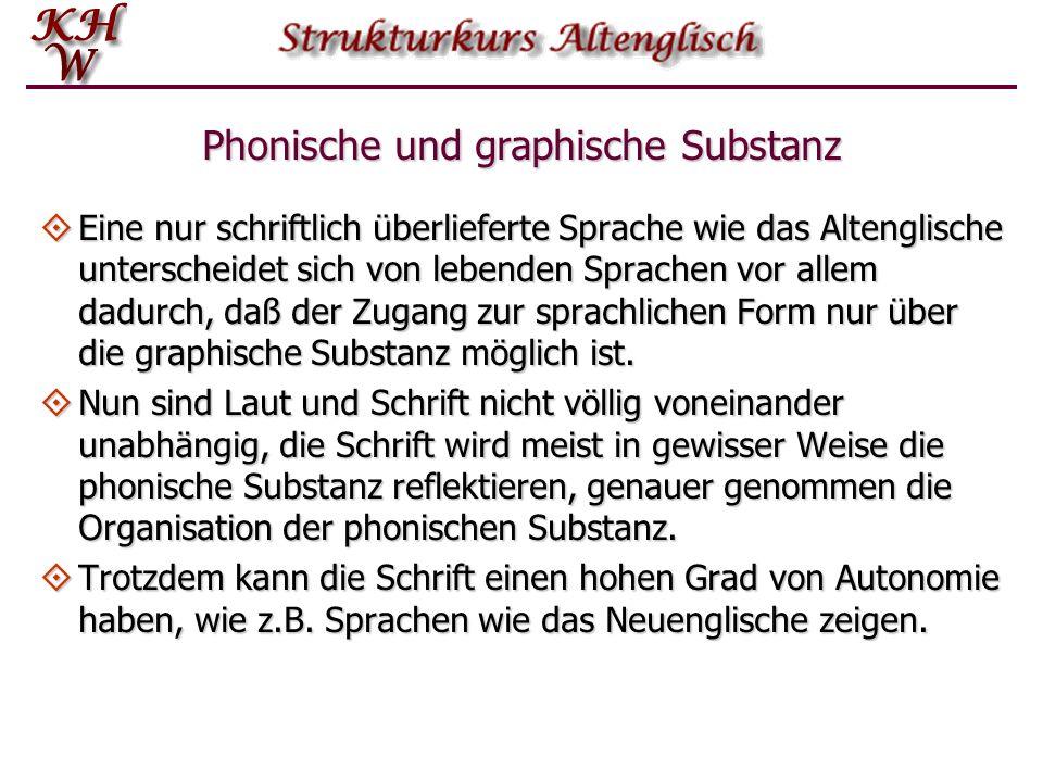 Phonische und graphische Substanz