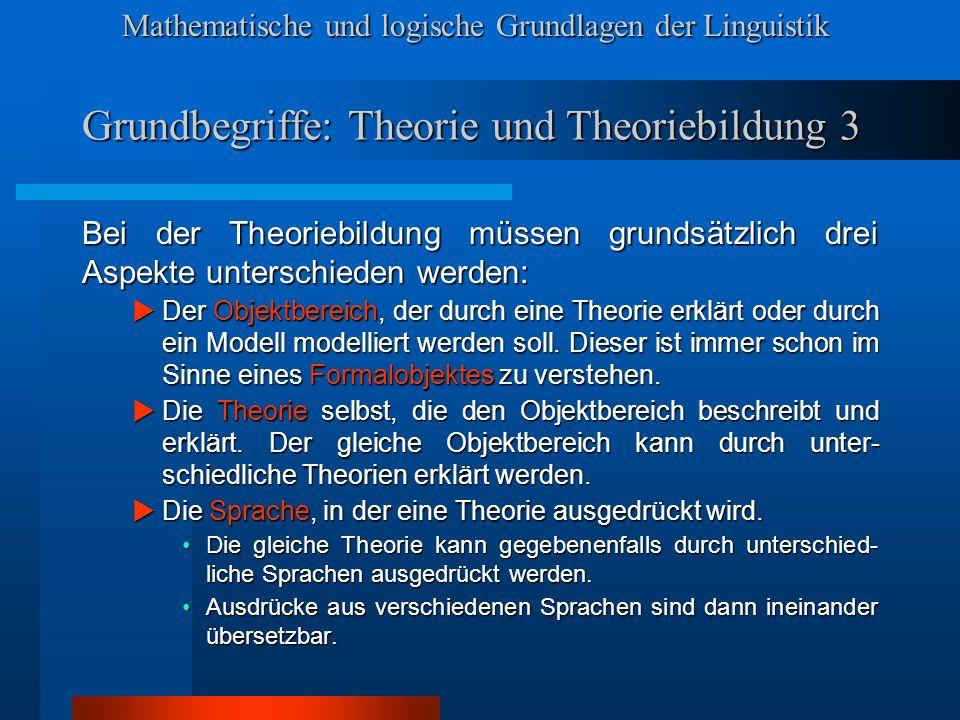 Grundbegriffe: Theorie und Theoriebildung 3
