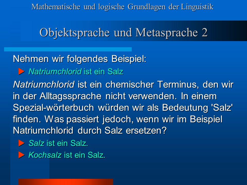 Objektsprache und Metasprache 2