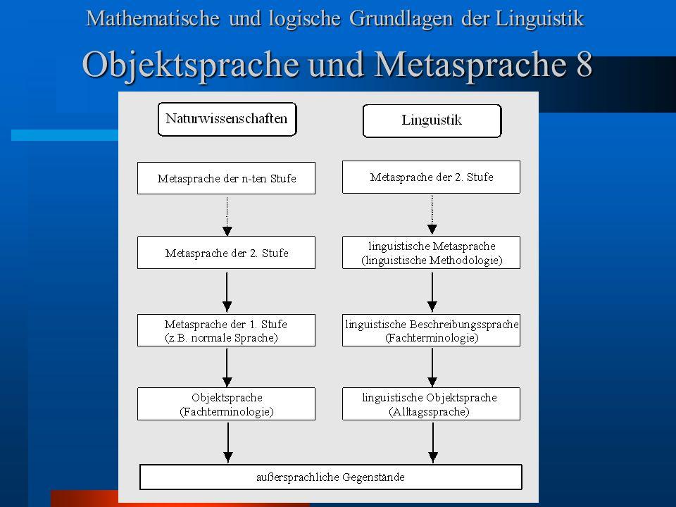 Objektsprache und Metasprache 8