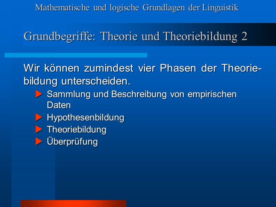 Grundbegriffe: Theorie und Theoriebildung 2