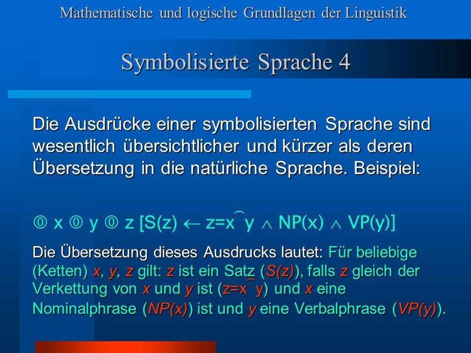 Symbolisierte Sprache 4