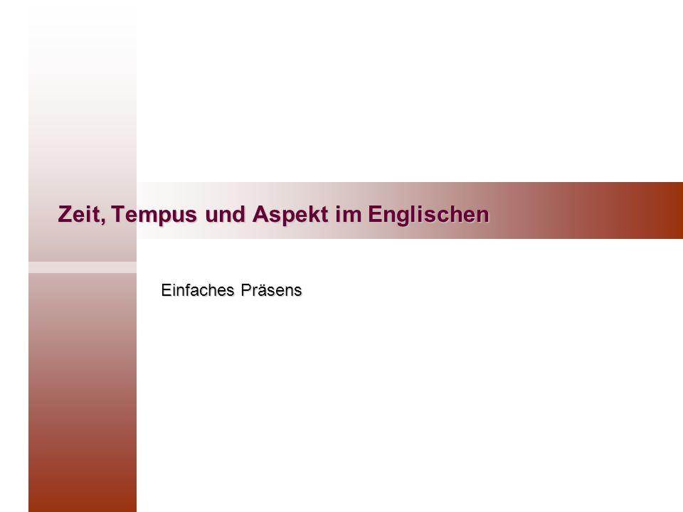 Zeit, Tempus und Aspekt im Englischen