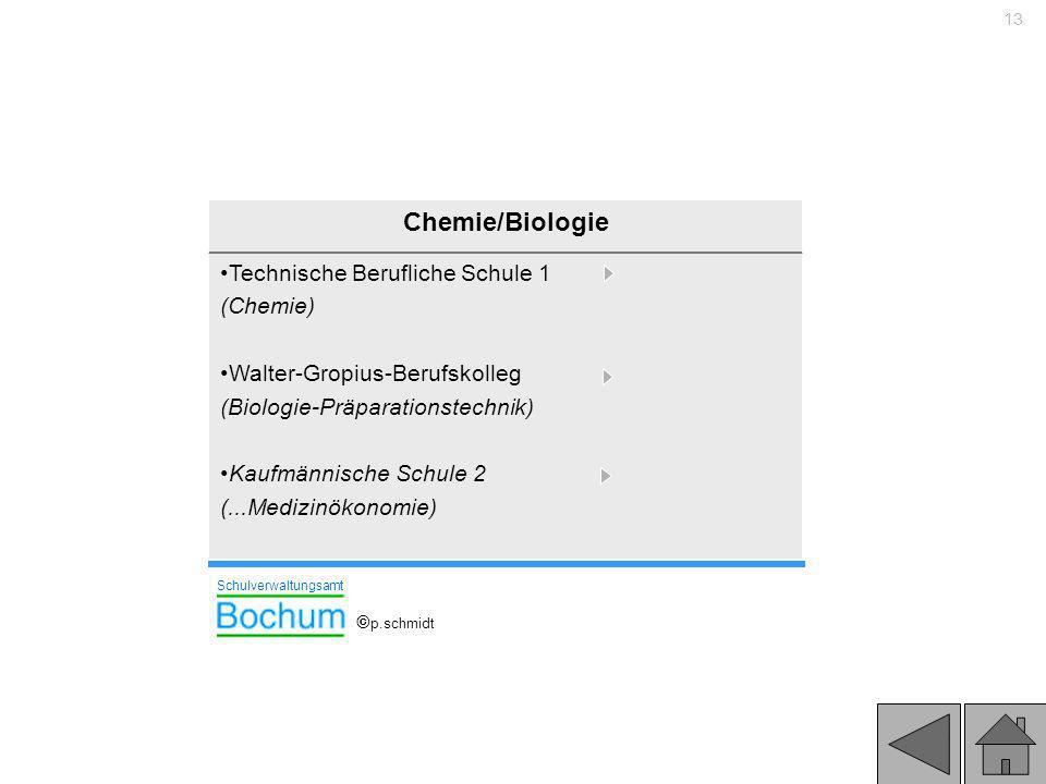Chemie/Biologie Technische Berufliche Schule 1 (Chemie)