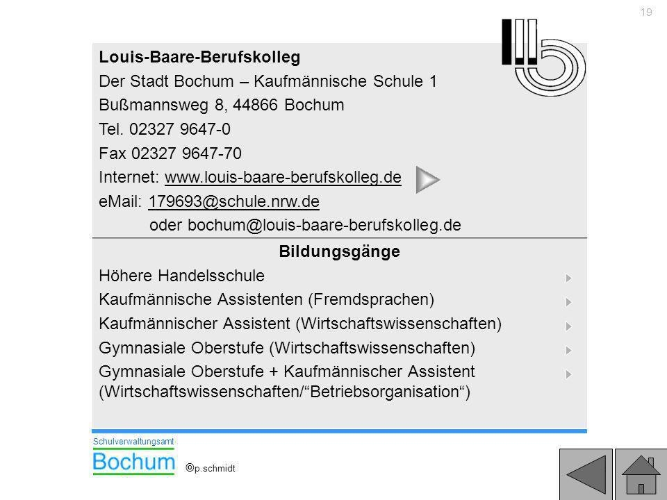Louis-Baare-Berufskolleg Der Stadt Bochum – Kaufmännische Schule 1