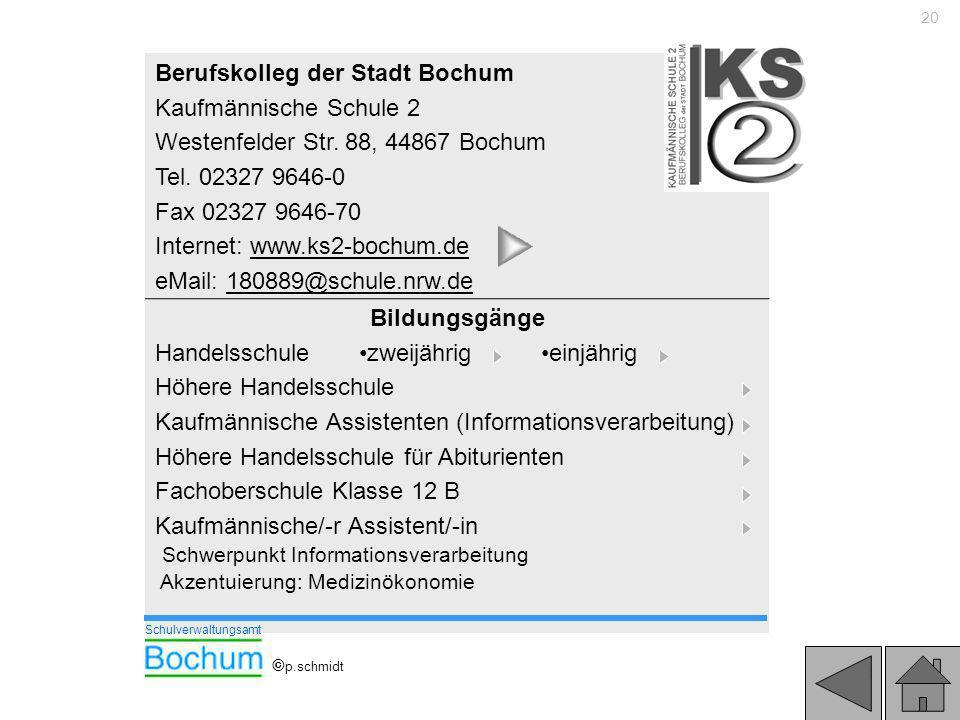 Berufskolleg der Stadt Bochum Kaufmännische Schule 2