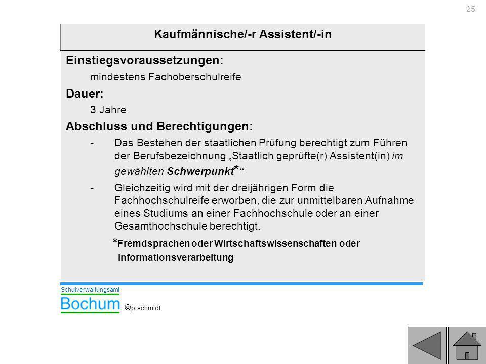 Kaufmännische/-r Assistent/-in