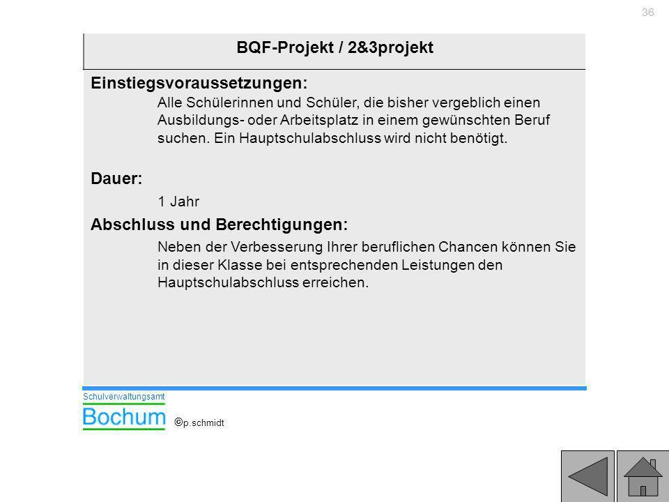 BQF-Projekt / 2&3projekt